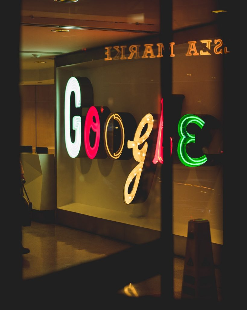 google neon light sign